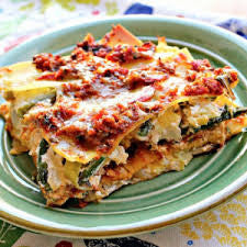 Spinach Lasagna- Serves 2 or more