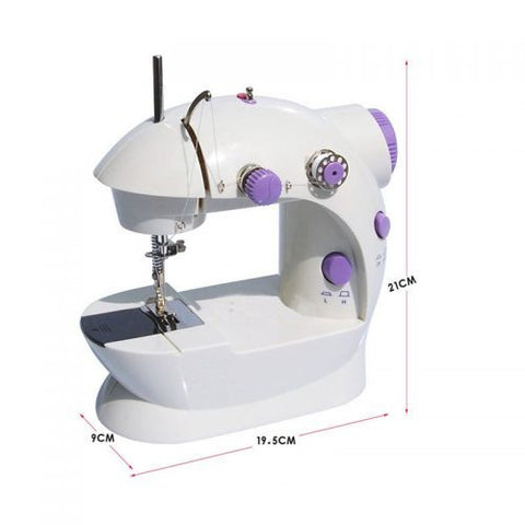 "For last minute adjustments or to give a little tweak here and fold there, 4 in 1 Mini Sewing Machine, White – ""For Basic Stitching Only"" is what you are looking for! Product Features: It offers flexibility of use and enables manual and foot pedal action."