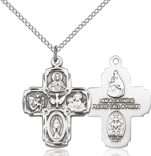 Sterling Silver 5 Way Cross - St. Mary's Gift Store