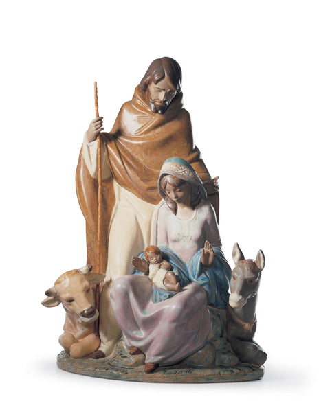 Joyful Event Nativity Porcelain Figurine by Lladro, 15 inches
