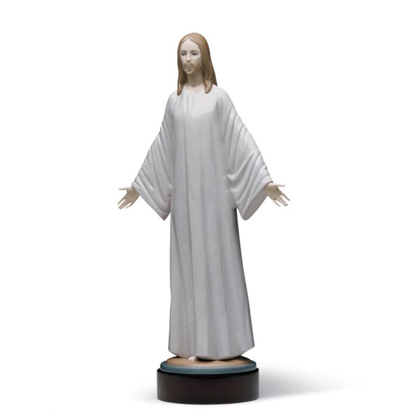 Jesus in White Tunic by Lladro, 15 inches