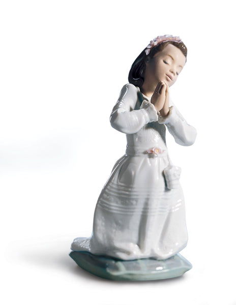 1st Communion Girl Figurine by Lladro, 7.48 inches