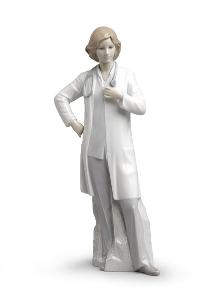Female Doctor Fine Porcelain by Lladro, 12.2 inches