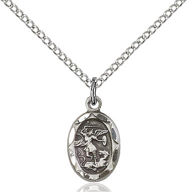 St.Michael the Archangel with Sterling Silver Chain. - St. Mary's Gift Store