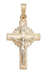 Two-Tone 10KT Crucifix - St. Mary's Gift Store