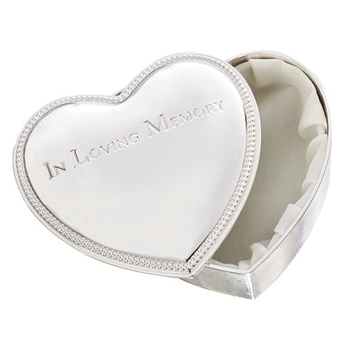 """In loving Memory"" Heart-shaped Keepsake Box"