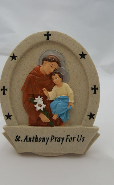 St. Anthony Resin Plaque - St. Mary's Gift Store