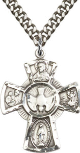 Sterling Silver 5- Way Cross - St. Mary's Gift Store