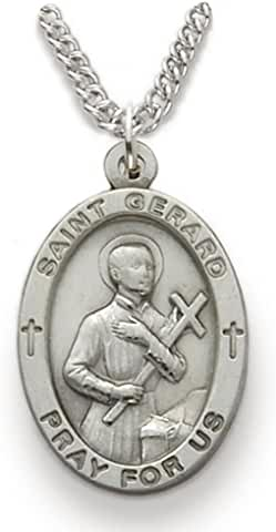 St Gerard Patron Saint of Expectant Mothers - Oval - 1 inch