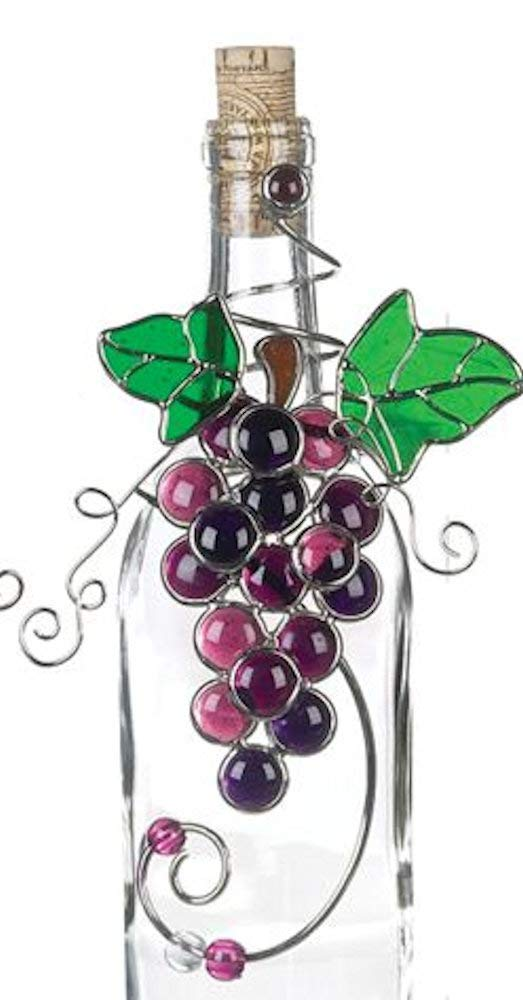 Purple Bunch of Grapes Wine Bottle Decor - St. Mary's Gift Store