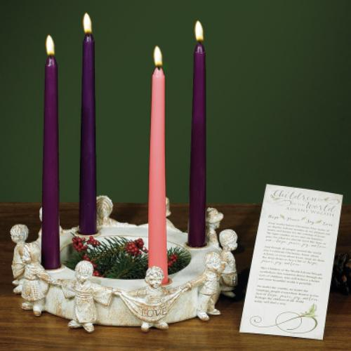 Children of the World Advent Wreath - St. Mary's Gift Store