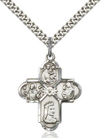Franciscan 4-Way Sterling Silver Cross - St. Mary's Gift Store