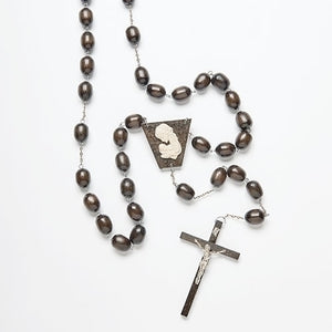 Brown Wood Wall Rosary - St. Mary's Gift Store