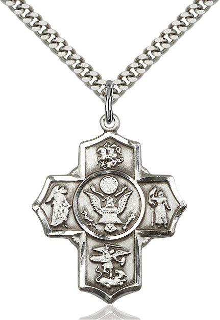 Sterling Silver 5-Way Army - St. Mary's Gift Store