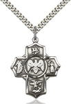 Sterling Silver 5-Way Coast Guard Cross - St. Mary's Gift Store