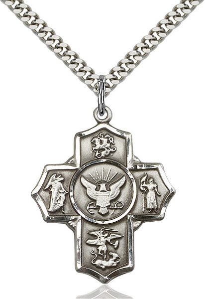 Sterling Silver Navy 5- Way cross - St. Mary's Gift Store