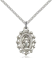 Sterling Silver Miraculous Medal with Filigree - St. Mary's Gift Store