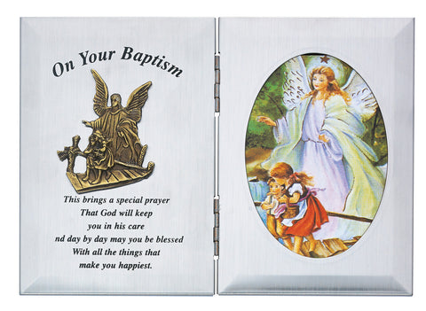 Guardian Angel Baptism Plaque - St. Mary's Gift Store