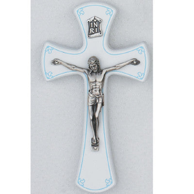White/Silver Crucifix - Boy - St. Mary's Gift Store