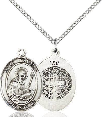 St. Benedict Sterling Silver Medal - St. Mary's Gift Store