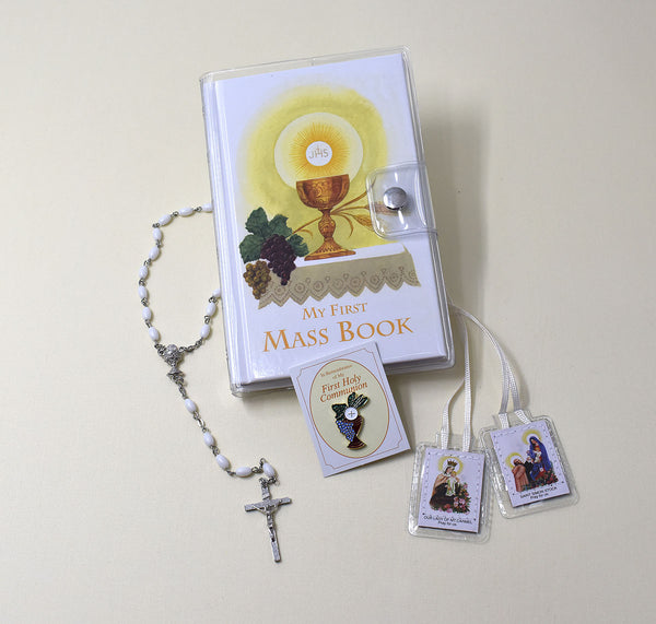 First Mass Book (My First Eucharist) Vinyl Gift Set