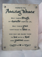 Amazing Women Plaque, 8 x 10 inches