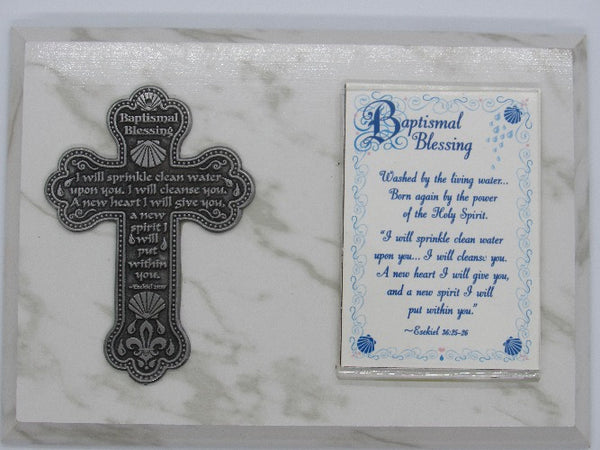 Baptism Picture Frame with Petwer Cross,