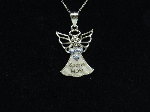 Sports Mom Angel Yellow Gold Pendant - 14KT