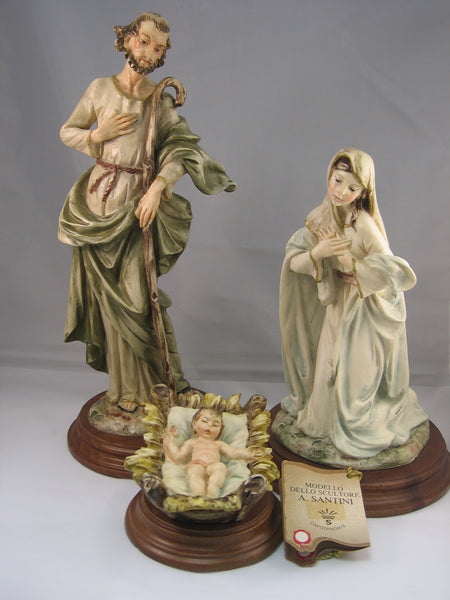 Three Piece Holy Family by Santini, 11 inches