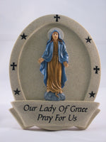 Our Lady of Grace Resin Plaque - St. Mary's Gift Store