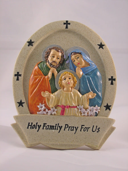 Holy Family Resin Plaque - St. Mary's Gift Store