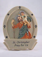 St Christopher Resin Plaque - St. Mary's Gift Store