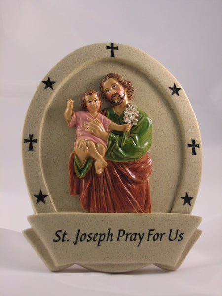 St Joseph Resin Plaque - St. Mary's Gift Store