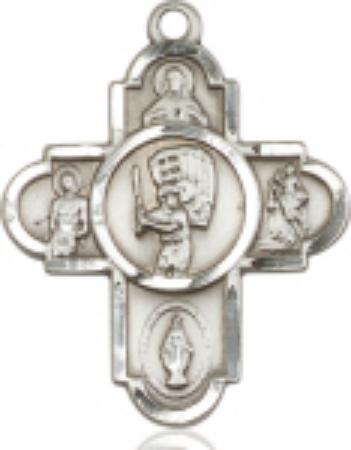 Sterling Silver 5-Way Baseball Cross - St. Mary's Gift Store