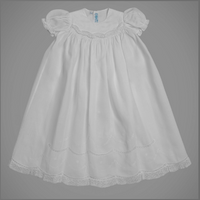Feltman Brothers Girls Smocked Christening/Baptism/Special Occasion Gown Set. 6/9 months