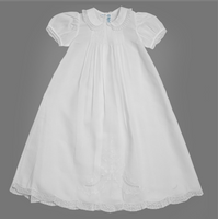 Feltman Brothers Girls Ruffle Lace Collar Gown Set. 6- months