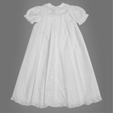 Feltman Brothers Girls Scalloped Yoke Christening/Baptism/Special Occasion Gown Set. 6-9 months