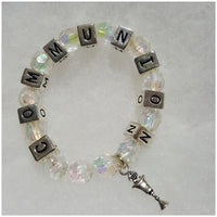 First Communion Bracelet- Girl with Free Prayer Card