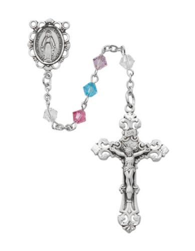 5mm Multi-color Swarovski Rosary - St. Mary's Gift Store