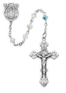 Multicolor Swarovski rosary - St. Mary's Gift Store