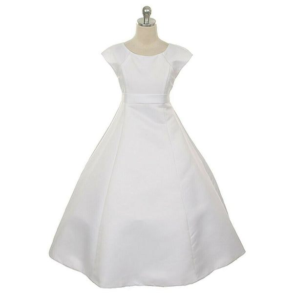 Elegant First Holy Communion Dress - White
