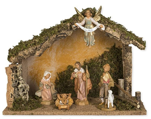 Fontanini 5 Piece Nativity Set with Manger - Made in Italy