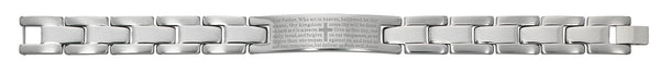 "Men's Stainless Steel ""Our Father"" Bracelet, 8 inches"