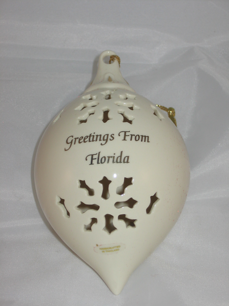 """Greetings from Florida"" Christmas Ornament"