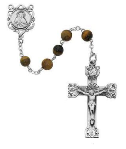 Genuine Tiger Eye Rosary - St. Mary's Gift Store