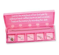 Add-a-Charm Milestone Bracelet with Keepsake Box - St. Mary's Gift Store