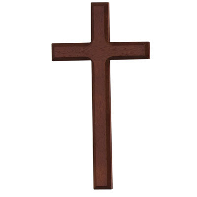 Dark Wood Stained Cross, 8 inches