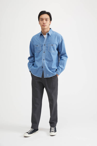 SASHIKO DENIM SHIRT - INDIGO