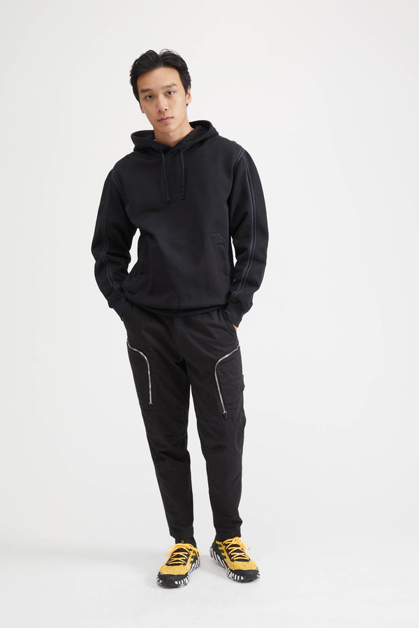 60107 Shadow Project Felpa Nylon Hooded Sweatshirt - Black