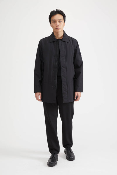 41727 SOFT SHELL-R WITH PRIMALOFT TRENCH COAT - BLACK